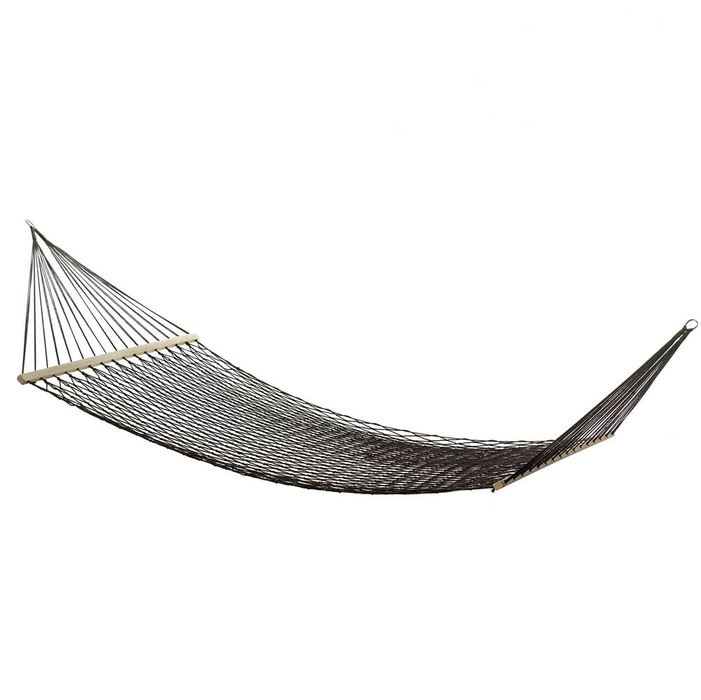 brown hammock on a white background.