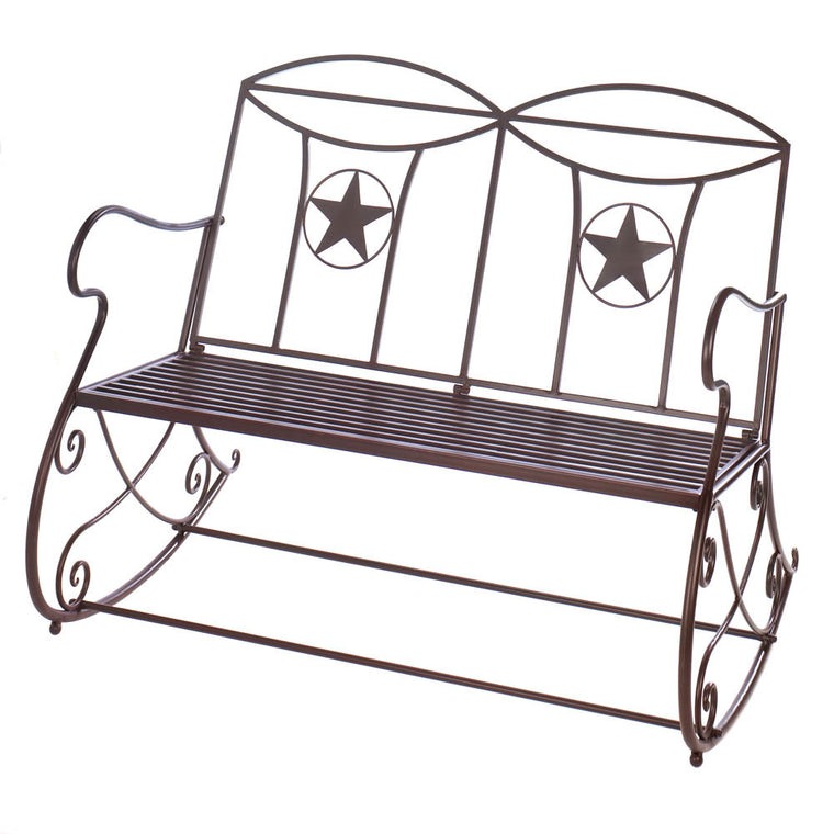 double star outdoor rocker on a white background.