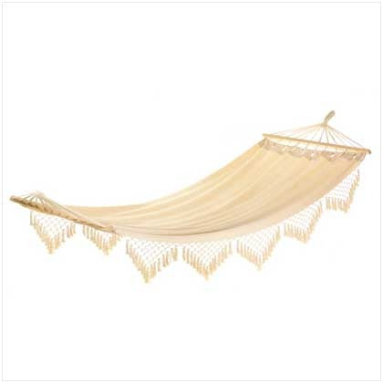 Canvas hammock on a white background.