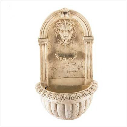 Greco-Roman Style Lion Head Wall Water Fountain