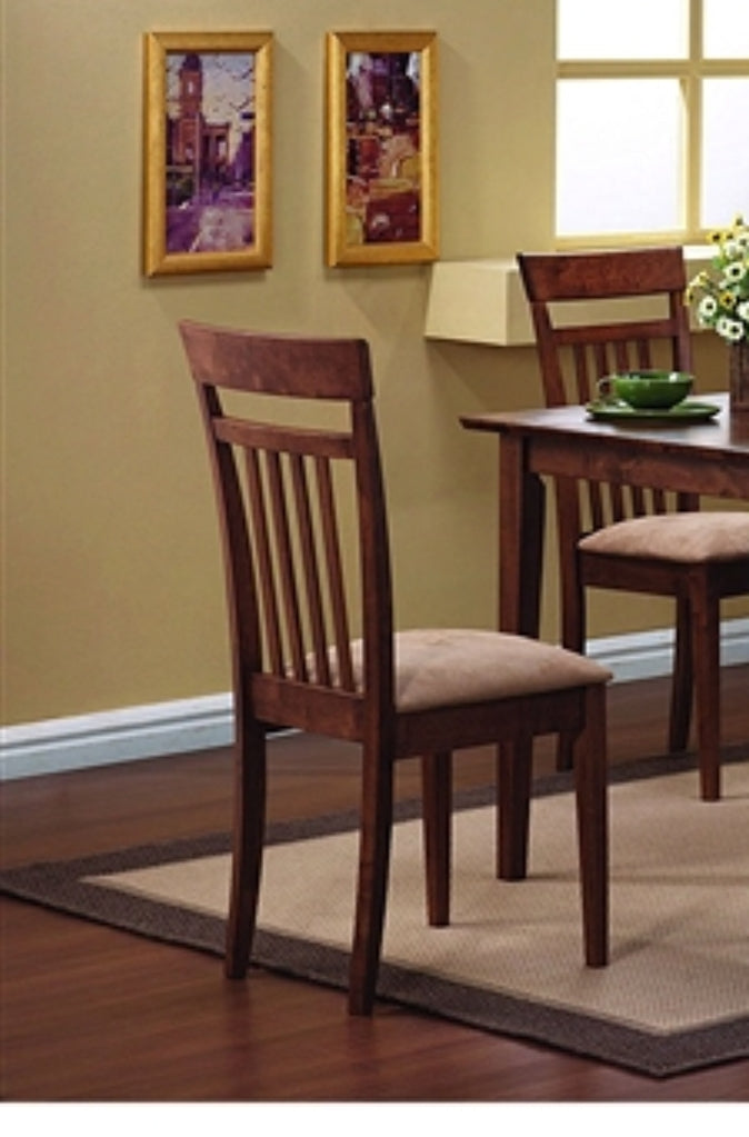 Classic 5-Piece Dining Set with Rectangular Table and 4 Chairs in Chestnut Wood Finish