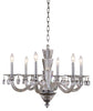 "This Augusta Collection Pendant Light fixture 6 Light 29.5 inch Chrome Finish Ceiling light is a Simply luxurious way to light any room in your personl castle! This light is a ""big"" 28 inches high and 29.5 inches in diameter and will look spectacular in your home!"