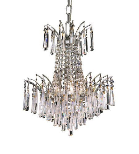 Victoria Collection Hanging Light Fixture 16 Inch 4 Light Chrome Finish (Royal Cut Crystals)
