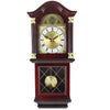 "Bedford Clock Collection 26"" Antique Mahogany Cherry Oak Chiming Wall Clock with Roman Numerals"