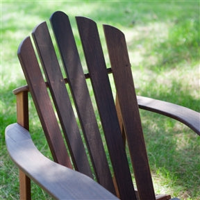 Adirondack chair back and armrest detail.