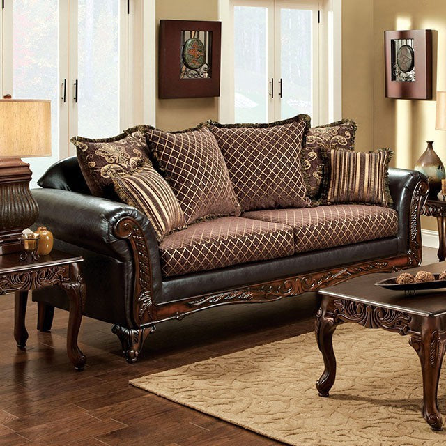 San Roque Spacious Opulent Sofa Traditional Style, Multicolor