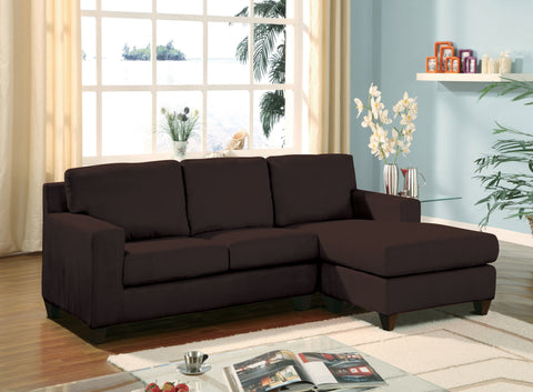 Vogue Sectional Sofa, Brown