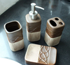 European mellow tone four-piece ceramic bathroom set