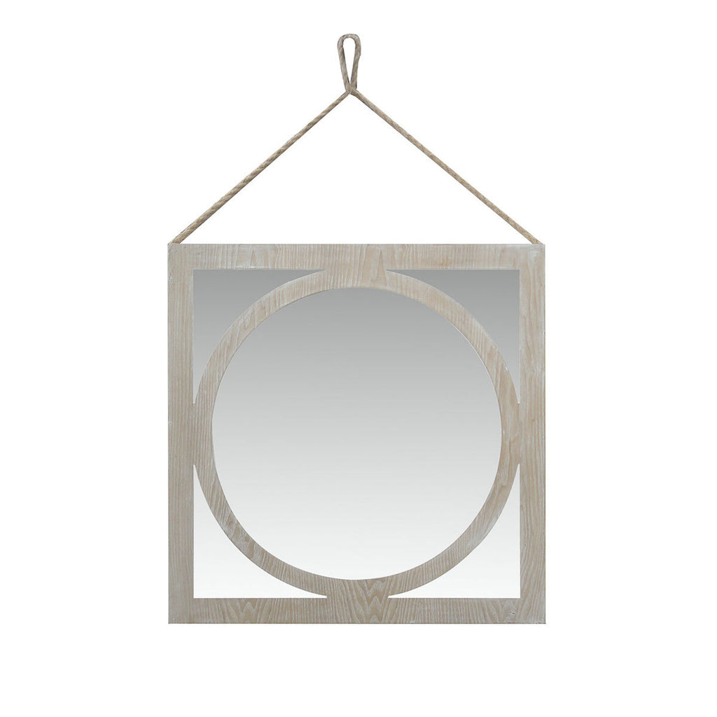 Wash White Wooden Mirror Frame by Urban Port