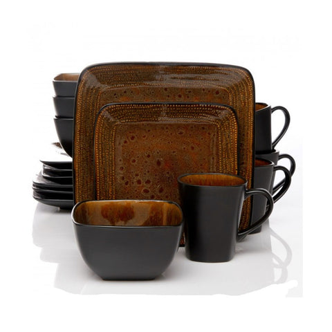 Brown dinner ware set. Add a contemporary touch to your dinner table with the Autumn  sc 1 st  Simply Home Life & Autumn Amber 16 Piece Dinnerware Set u2013 Simply Home Life