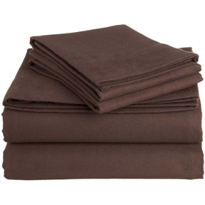 Queen size 100-Percent Cotton Velvet Flannel Sheet Set - 3 color options
