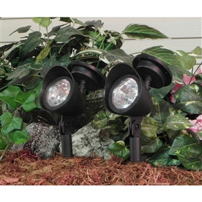 8 Pack - Solar Powered Outdoor LED Spot Light in Black