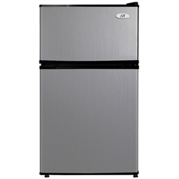 2 door stainless steel refrigerator.
