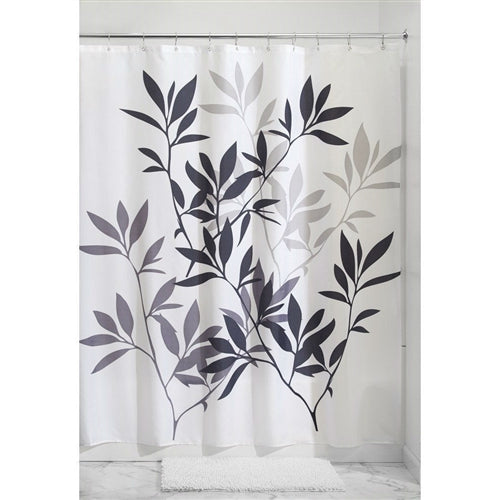 Tree Branch Leaves Black White Grey Fabric Shower Curtain – Simply ...