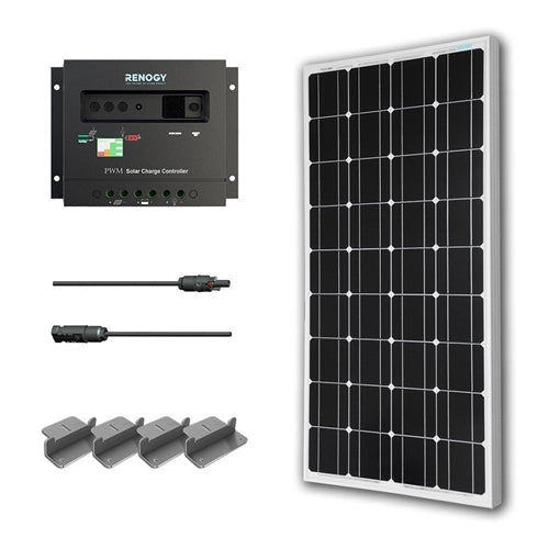 New to solar? This 100-Watt Solar Panel with Charge Controller and Z Mounting Brackets for someone who wants to begin utilizing solar energy for their off-grid adventures. 100-Watt Solar Panel with Charge Controller and Z Mounting Brackets, 30 amp PWM Charge Controller, 20 ft. MC4 Adaptor Kit, and a set of Z-brackets are all included in this specialized kit. This kit is the perfect introduction to solar! the whole system.
