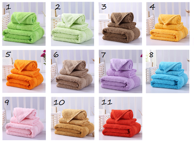 Luxurious Bamboo Fiber and Cotton Blend Bathroom Towels Set of 3, Bath Towel, Hand Towel, Washcloth