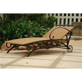 Resin Wicker / Steel Multi-Position Chaise Lounge Chair Recliner