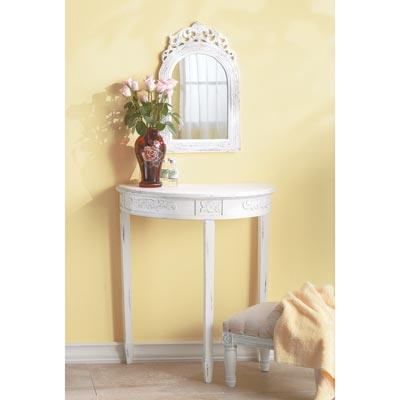 French Styled Arched-top Wall Mirror