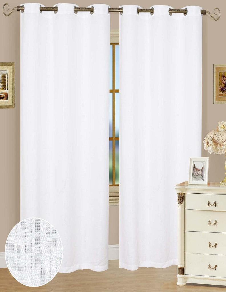 Ashley White Polyester Window Curtains