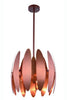 "Lily Collection Pendant Lamp D:17"" H:14.5"" Lt:3 Brushed Copper Finish"