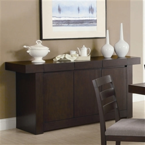 Modern Dining Room Sideboard Server Table Cabinet in Cappuccino ...