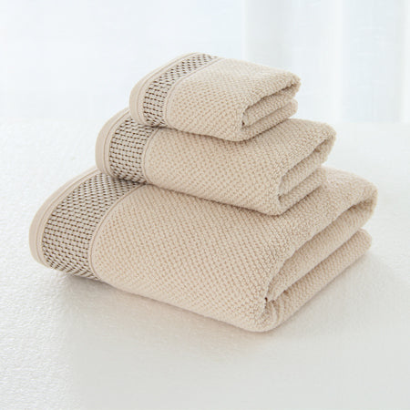 Jacquard 3 piece Bath Towel set 100% cotton, eco-friendly