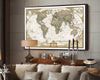 This Classic Reproduction of an Antique World Map brings History to life in a Poster bringing a Continental Flare to any room in your home! This Poster is manufactured using Kraft Paper and is suitable for Framing and will become a Simply awesome Home Decoration!( Frame Not included).