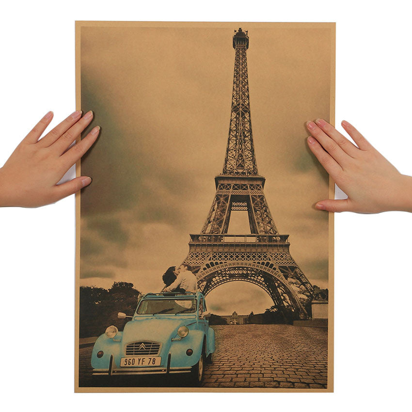 Paris Eiffel Tower Nostalgia Retro Decorative Wall Poster