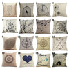 Simple, Casual Designs Beige Cotton Linen Pillow Cover Case, 16 style options