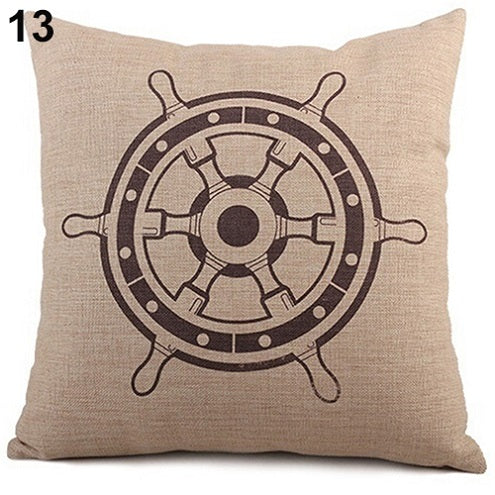 Ship Wheel Pillow Cover