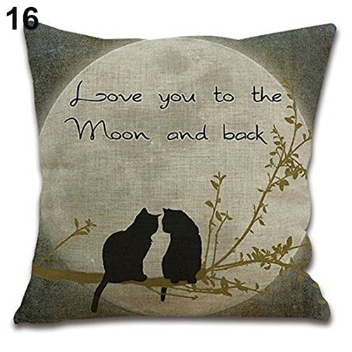 Cats Love you to the Moon and Back Pillow Cover