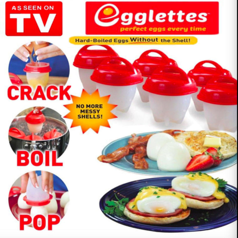 Egglettes Maker/Eggies Egg Cooker - Hard Boiled Eggs without the Shell  As Seen on TV!