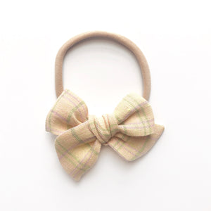NORA BOW / Meadow plaid