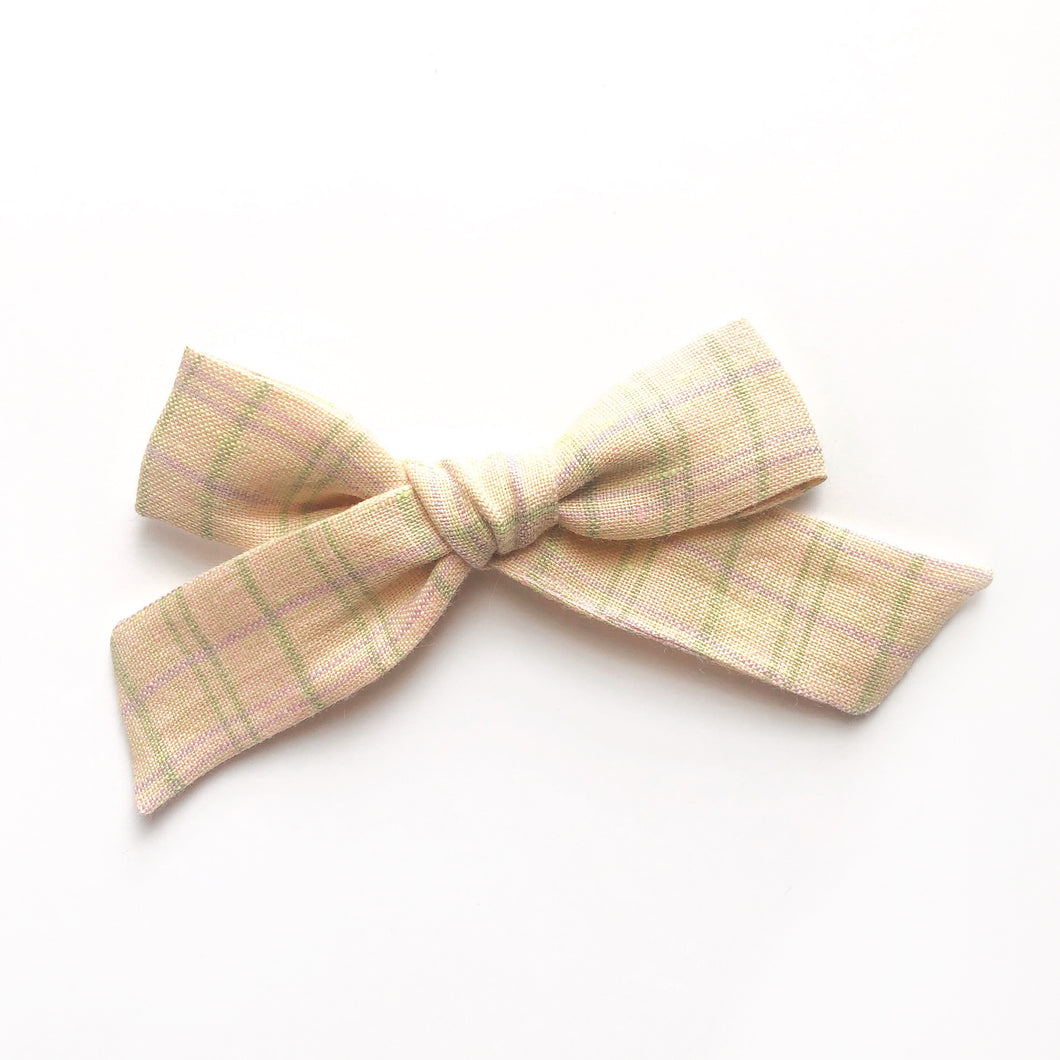 ELOISE BOW / Meadow plaid