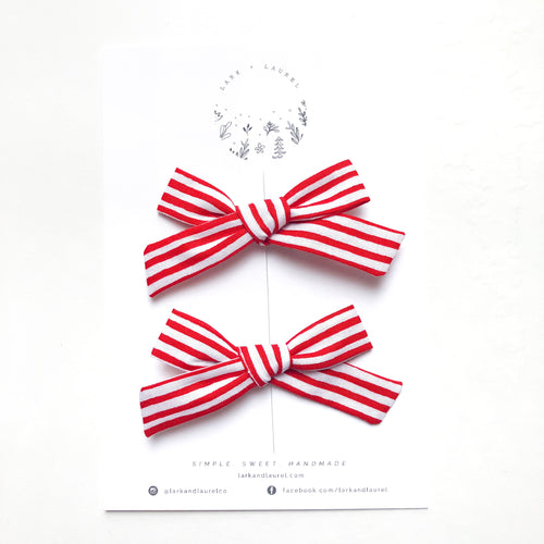 POPPY PIGTAIL SET / Candy Cane
