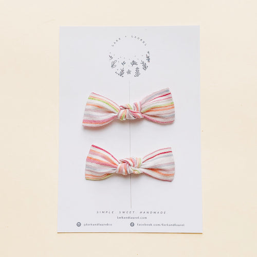 LILLY PIGTAIL SET / Sherbet stripe