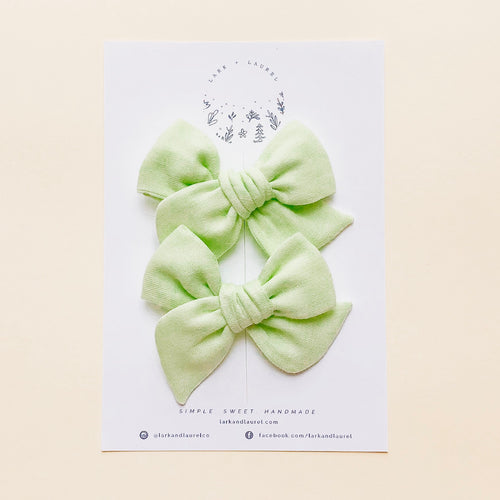 NORA PIGTAIL SET / Pear