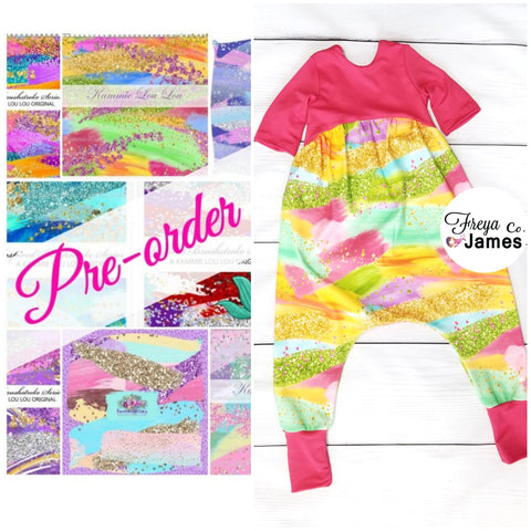 Brushes Alley Cat Romper - CLOSES 14TH AND 29TH EACH MONTH
