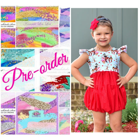 Brushes Bubble Romper - CLOSES 14TH AND 29TH EACH MONTH