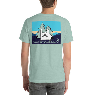 stinky adirondact tee back shirt