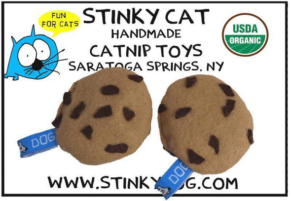 Stinky Dog - Two Pack Chocolate Chip Cookies | Catnip Toy