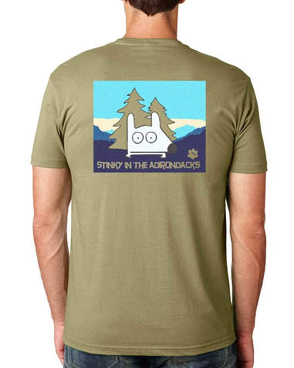 stinky dog adirondacks t-shirt