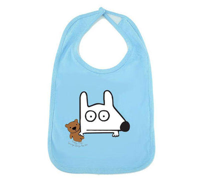 Stinky Dog Teddy Bear Baby Bib
