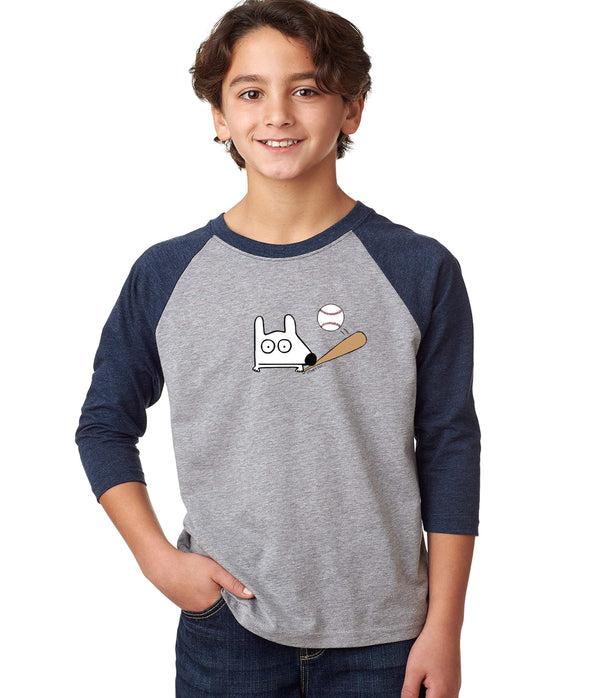 Stinky Dog Kids Baseball T-Shirt