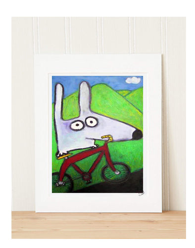 Matted Art Print | Stinky Dog Bike