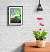 room decor stinky dog framed print bike