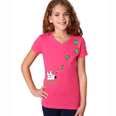 Stinky Dog Girl's Butterfly T-Shirt