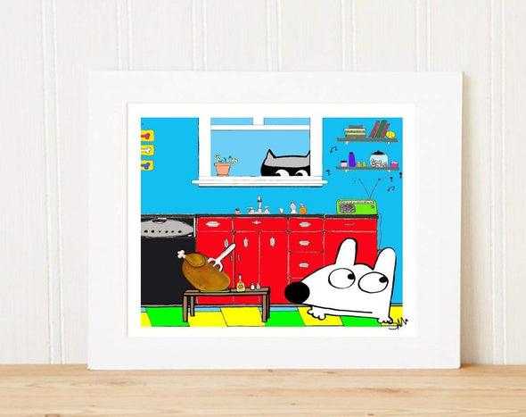 Matted Art Print | Stinky Dog Kitchen