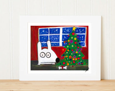 Merry Stinky Christmas matted print