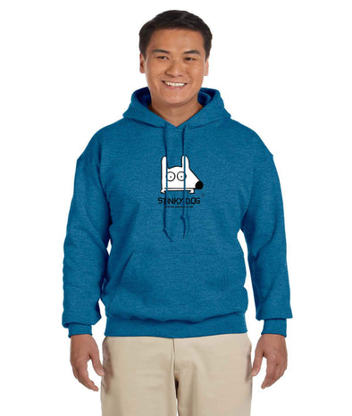 Stinky Dog blue hoody sweatshirt